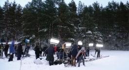 kino flo 4 foot 4 bank lights lighting feature film on location