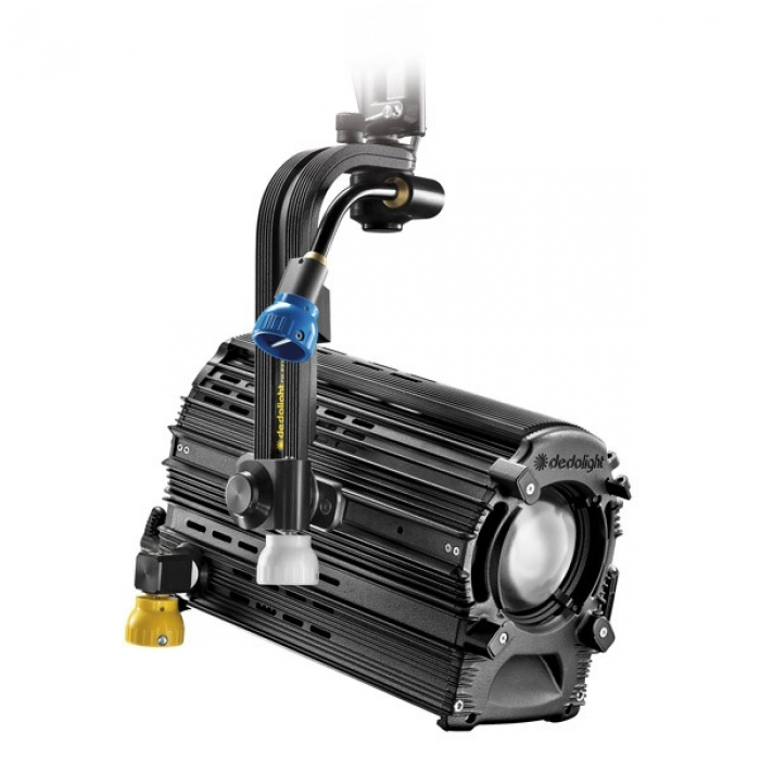 Dedolight 225W Focusing LED light head, tungsten incl. DMX power supply, pole operated