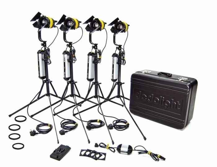 4 Head BI COLOUR 40W LED Hard Case KIT