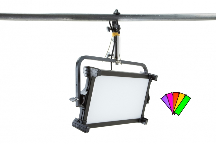 Kino Flo Celeb 250 DMX LED soft lighting fixture, Kelvin tuneable with colour gel presets