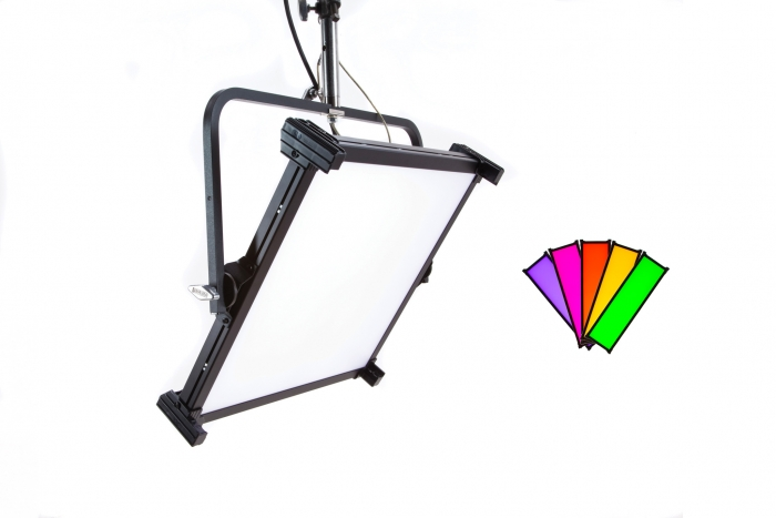 Kino Flo Celeb 450Q DMX LED soft lighting fixture, Kelvin tuneable with colour gel presets
