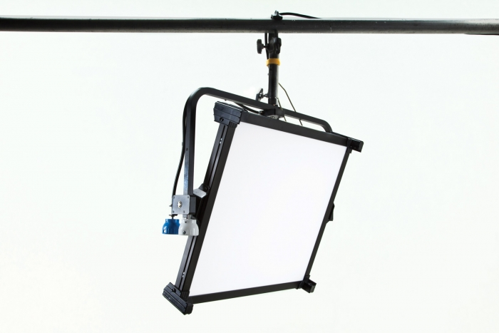 Kino Flo Celeb 450Q DMX LED soft lighting fixture, Kelvin tuneable with colour gel presets, pole operation
