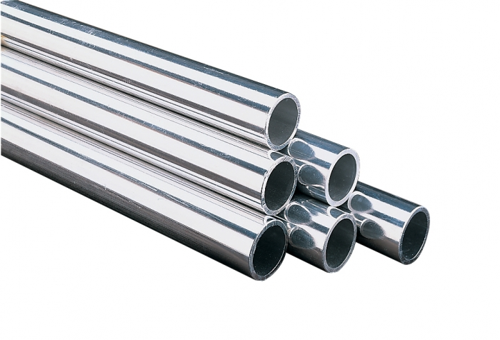 ALUMINIUM SILVER BARREL (48mm x 6.1 metre)