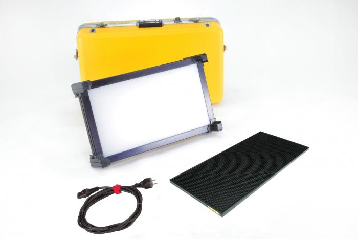 Kino Flo Celeb 250 DMX LED soft lighting kit, Kelvin tuneable with colour gel presets, hard case