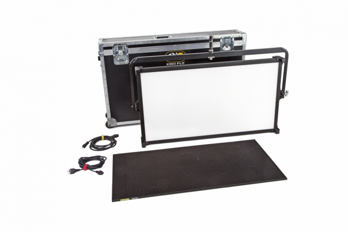 Kino Flo Celeb 850 DMX LED big soft lighting kit with hard case, Kelvin tuneable with colour gel presets