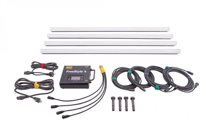 Kino Flo FreeStyle 4ft LED DMX System (4-Tube),  Universal, LED Tubes RGBWW 4ft 4 foot feet 4bank