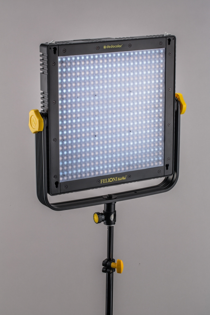 Tecpro Felloni Turbo by Dedolight bi-colour LED panel for film and studio lighting