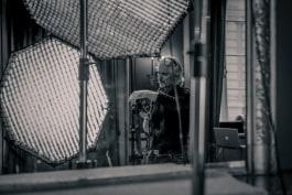 dedolight panaura octodome lights on photography set