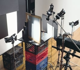 table top product photography with classic dedolight dlh4 lights and imaging adapters