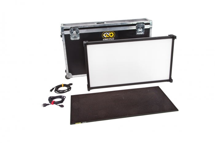 Kino Flo Celeb 850 DMX LED big soft lighting kit with hard case, Kelvin tuneable with colour gel presets